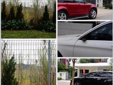 Hnh ảnh 3 chiếc xe bị mất gương cũng như vị trí nghi ngờ kẻ gian đột nhập vào khu nhà để gây án