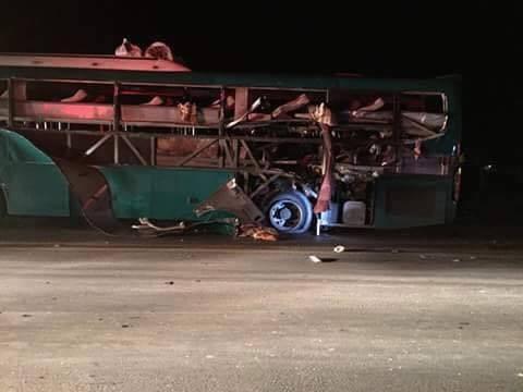 Hiện trường vụ nổ chiếc xe khách