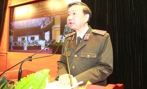 Thượng tướng Tô Lâm, Bộ trưởng Bộ Công an phát biểu chỉ đạo tại hội nghị