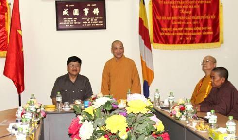 Hòa thượng Thích Bảo Nghiêm, Trưởng Ban Trị sự Giáo hội Phật giáo Việt Nam TP Hà Nội trân trọng cảm ơn sự giúp đỡ nhiệt tình, trách nhiệm, hiệu quả của CATP Hà Nội trong thời gian qua và mong muốn trong thời gian tới tiếp tục nhận được sự quan tâm, giúp đỡ hơn nữa của CATP