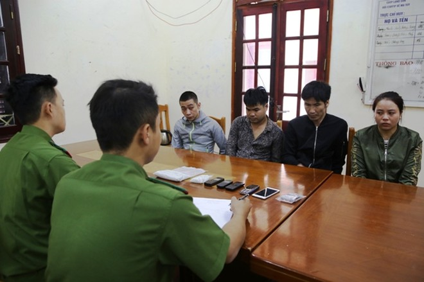 Các đối tượng bị Công an Lạng Sơn bắt giữ