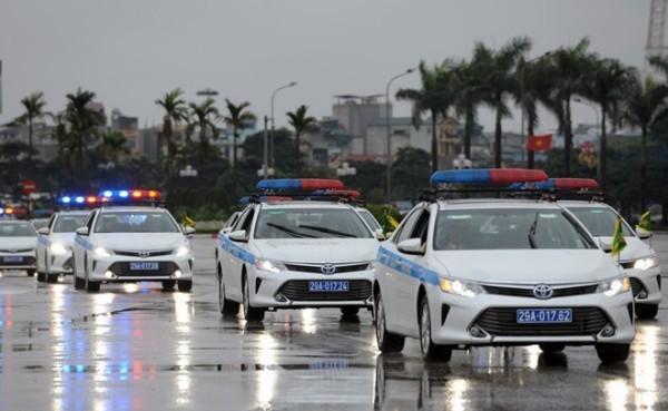 Lực lượng CSGT tham gia đón, dẫn các đoàn nguyên thủ đảm bảo tuyệt đối an toàn theo yêu cầu của lãnh đạo các cấp