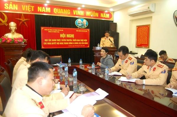Những nội dung của các Nghị quyết trong Hội nghị Trung ương 6 (khóa XII) đã được tập huấn, quán triệt đến từng CBCS Cảnh sát đường thủy Hà Nội