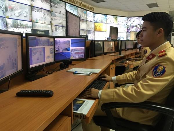 Hệ thống camra ghi nhận các xe vi phạm trên đường