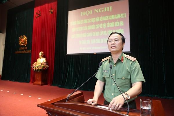 Thiếu tướng, GS.TS Bùi Minh Giám, Cục trưởng Cục Đào tạo (Bộ Công an) đánh giá cao sự chủ động, sáng tạo của CATP Hà Nội