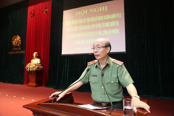 Thiếu tướng, GS. TS Nguyễn Quý Khoát, Phó Giám đốc Học viện ANND đánh giá cao công tác tổ chức, kiểm tra của CATP Hà Nội