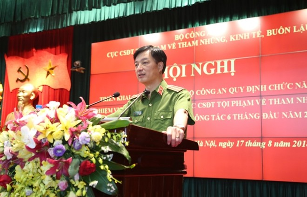 Thiếu tướng Nguyễn Duy Ngọc trân trọng cảm ơn sự quan tâm, chỉ đạo sát sao của Đảng ủy Công an Trung ương, lãnh đạo Bộ Công an và cá nhân Thượng tướng, Thứ trưởng Lê Quý Vương