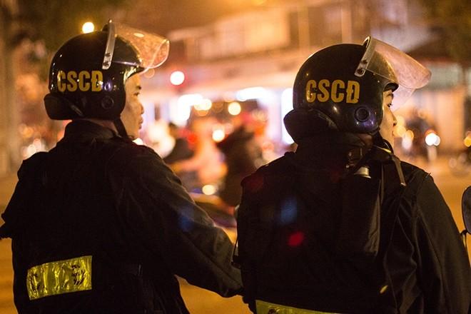 Trên khắp các tuyến đường, phố của Thủ đô, lực lượng CSCĐ lặng lẽ, tập trung đảm bảo ANTT