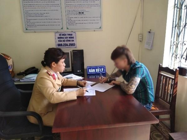 CSGT xử phạt đối với Ngô Bá Khá về hành vi vi phạm