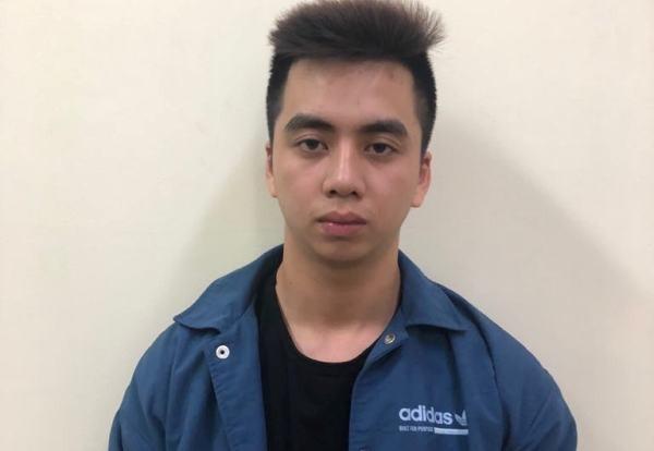 Đối tượng Thanh bị Đội CSHS - CAQ Cầu Giấy bắt giữ