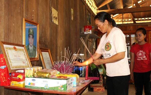 Đồng chí Thao Văn Súa hy sinh đã để lại nỗi tiếc thương, cảm phục cho gia đình, người thân và bà con dân bản