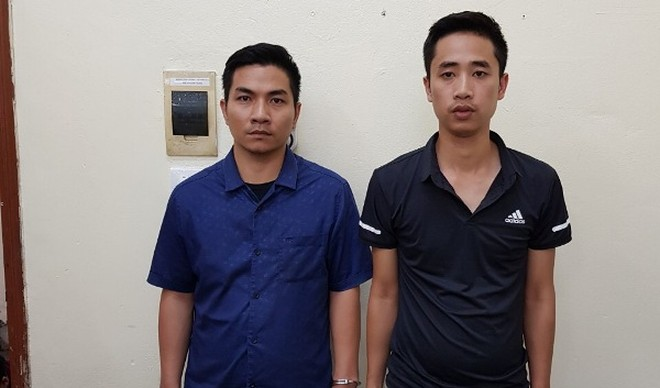 Hai đối tượng Cường và Thuận bị bắt giữ
