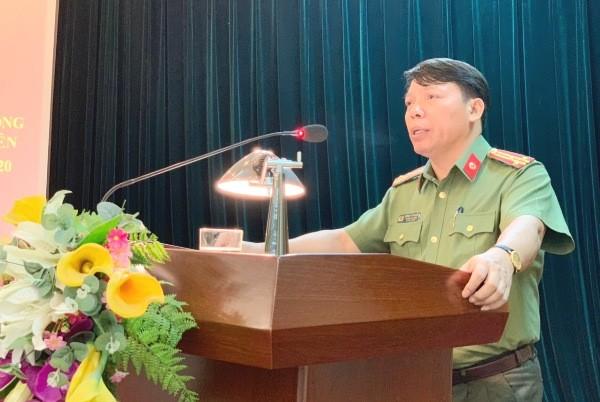 Thượng tá Dương Văn Hiếu, Trưởng CAQ Cầu Giấy khẳng định sẽ phối hợp hiệu quả với các đơn vị chức năng, trong đó có Phòng Giáo dục Đào tạo quận Cầu Giấy tuyên truyền, đảm bảo ATGT tại các trường học