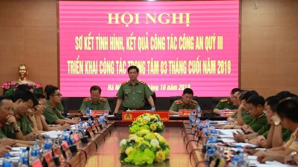 Trung tướng Đoàn Duy Khương, Giám đốc CATP Hà Nội chỉ đạo tại hội nghị