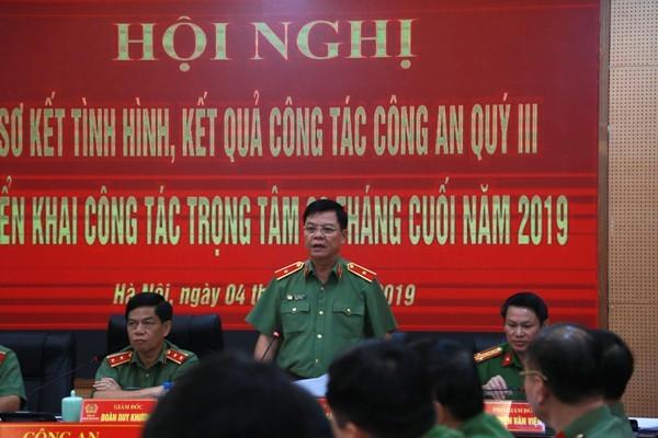 Thiếu tướng Đào Thanh Hải, Phó Giám đốc CATP Hà Nội quán triệt nhiều nội dung liên quan đến công tác xây dựng lực lượng