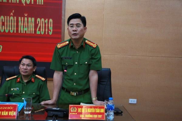 Đại tá Nguyễn Tuấn Anh, Cục trưởng Cục Cảnh sát PCCC, CHCN bày tỏ cảm ơn trước sự giúp đỡ của CATP Hà Nội, đồng thời mong muốn, tin tưởng CATP Hà Nội sẽ tiếp tục phối hợp hiệu quả trong công tác PCCC, CHCN