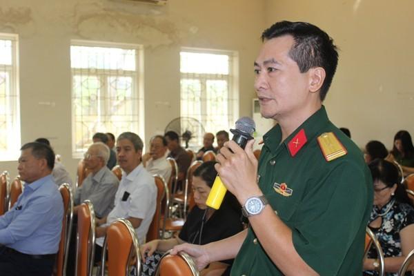 Nhiều cơ quan, doanh nghiệp, trường học... trên địa bàn phường cũng tham gia góp ý với lực lượng CSKV để làm tốt hơn nhiệm vụ