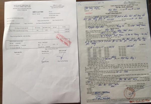 Quyết định xử phạt CBCS vi phạm Luật Giao thông của CAQ Hoàn Kiếm