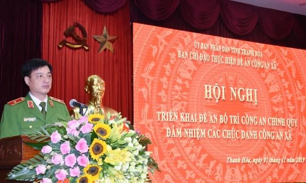 Thiếu tướng Nguyễn Duy Ngọc, Thứ trưởng Bộ Công an phát biểu chỉ đạo tại Hội nghị
