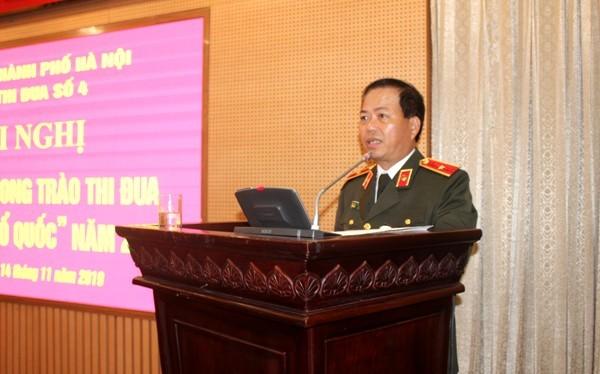 Thiếu tướng Đoàn Ngọc Hùng biểu dương, đánh giá cao kết quả, thành tích của Cụm thi đua số 4 đã đạt được trong năm 2019