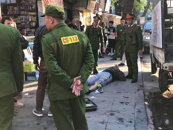 Hiện trường vụ việc nổ súng tự chế khiến 1 người bị thương nặng