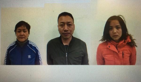 Một số đối tượng trong vụ án bị Công an quận Cầu Giấy bắt giữ