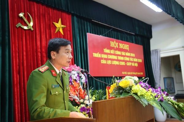 Đại tá Nguyễn Bình, Trưởng Phòng CSHS khẳng định, lực lượng CSHS hoàn thành xuất sắc các yêu cầu nhiệm vụ đặt ra