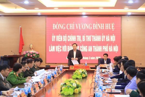 Bí thư Thành ủy Hà Nội nhấn mạnh sự cấp bách trong công tác phòng, chống dịch Covid-19 trên địa bàn thành phố giai đoạn hiện nay