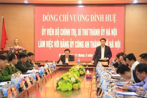 Ủy viên Trung ương Đảng, Phó Bí thư Thành ủy, Chủ tịch UBND - TP Hà Nội Nguyễn Đức Chung lưu ý 8 giải pháp, yêu cầu nhiệm vụ đặt ra đối với CATP Hà Nội về công tác phòng, chống dịch Covid-19 và nhiệm vụ đảm bảo ANTT trong thời gian tới
