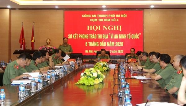 Đại tá Nguyễn Văn Sơn, Trưởng Phòng Tổ chức Cán bộ - Đơn vị Cụm trưởng Cụm thi đua số 4 trân trọng cảm ơn những phát biểu chỉ đạo của Thiếu tướng Đoàn Ngọc Hùng