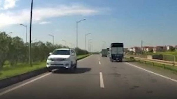 Chiếc xe đi ngược chiều trên cao tốc gây bức xúc dư luận