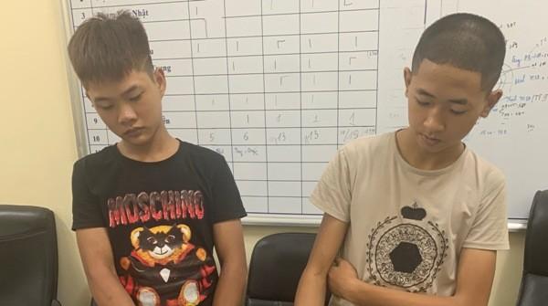 Hai trong số các đối tượng của đường dây ma túy bị CAQ Hoàng Mai bắt giữ