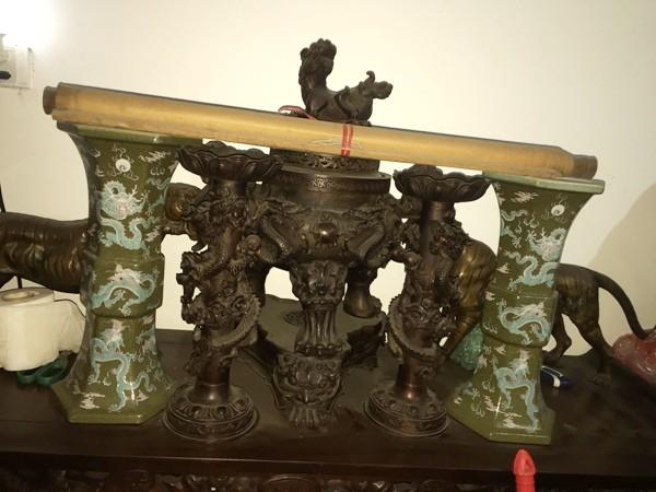 Nhiều cổ vật quý bị các đối tượng trộm cắp ở đình, chùa, nơi thờ tự, được cất giấu tại nhà Toàn