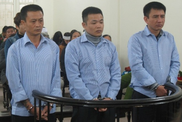 Các bị cáo trong vụ án 2 mạng người xảy ra tại phố Lê Ngọc Hân, hồi cuối năm 2012