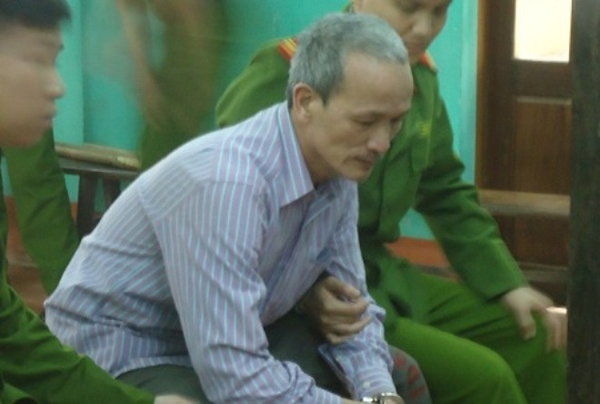 Bị cáo Chu Quang Đạo, lúc HĐXX sơ thẩm nghỉ hội ý