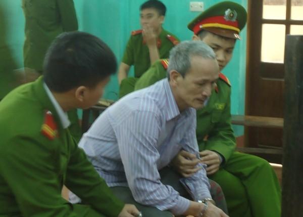 Bị cáo Chu Quang Đạo tại phiên tòa