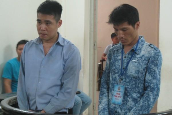 Đặng Sơn Tùng (bên trái) cùng đồng phạm tại phiên tòa phúc thẩm