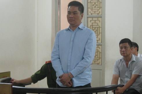 Bị cáo Lê Trung Kiên tại phiên tòa