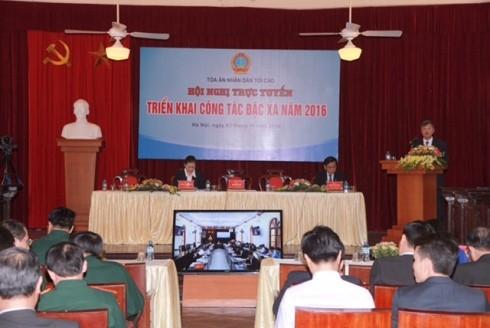 Hội nghị trực tuyến về đặc xá của TAND Tối cao