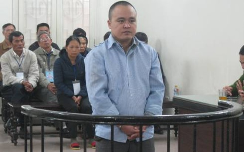 Nguyễn Thành Trung tại phiên tòa sơ thẩm