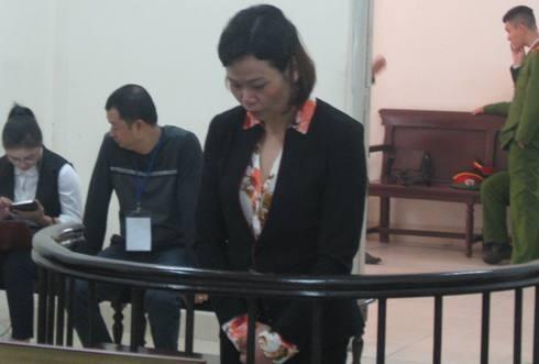 Phan Thị Xuân tại phiên tòa