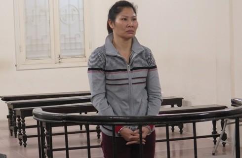 Bị cáo Lê Thị Bình tại phiên tòa