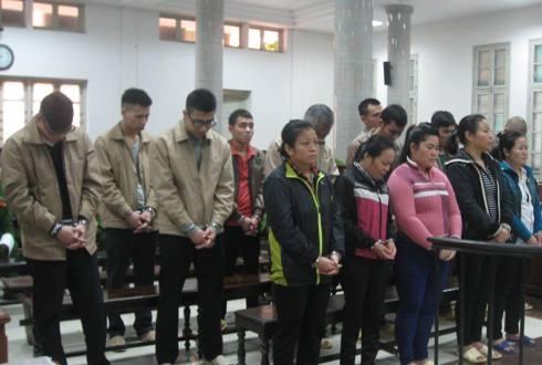 """Các bị cáo trong đường dây ma túy """"khủng"""" do Nguyễn Tiến Dũng cầm đầu"""