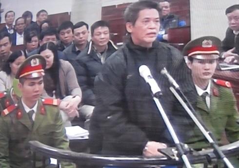 Bị cáo Phạm Thanh Tân - cựu Tổng giám đốc Agribank