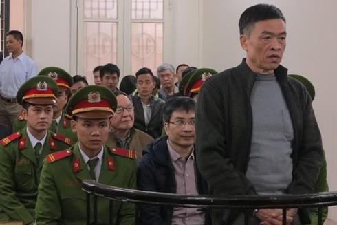 Bị cáo Trần Văn Liêm - cựu Tổng giám đốc Vinashinlines tại phiên tòa
