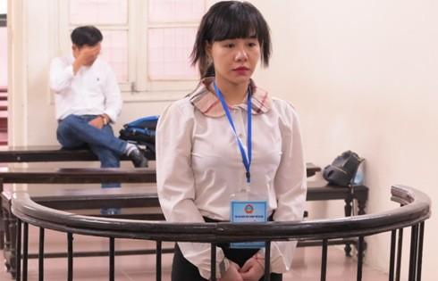 Trần Thị Trang tại phiên tòa phúc thẩm