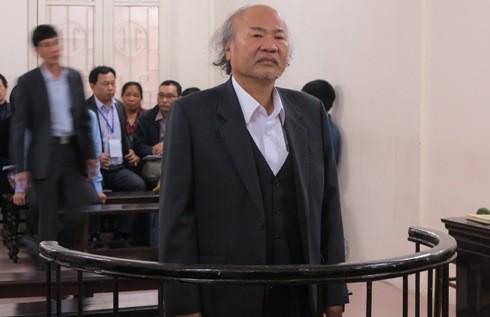 Bị cáo Giang Văn Hiển tại phiên tòa