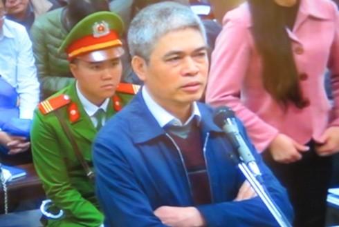 Nguyễn Xuân Sơn - cựu Tổng giám đốc OceanBank tại ngày xét xử thứ tư