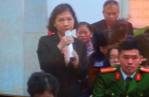 Bà Tạ Thị Minh Nguyệt - đại diện PVPOWER cho rằng chưa bao giờ nhận tiền bất chính