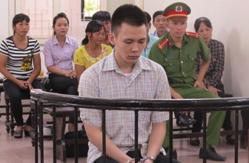 Bị cáo Đinh Vạn Thành tại phiên tòa sơ thẩm
